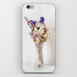 Dried flower in glass vase iPhone Skin