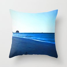 Driftwood on a Beach in the Dying Light Throw Pillow