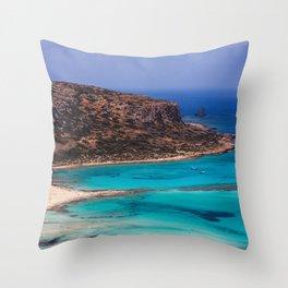 Balos Lagoon, Crete. Throw Pillow