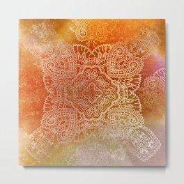 paisley star in hot hues Metal Print