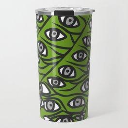 Freddie Eyeballs Avocado Green Travel Mug