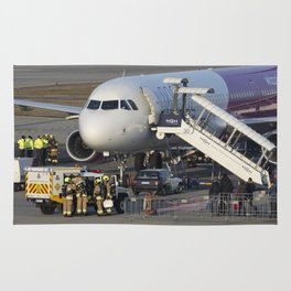 Wizz Air Jet And Fire Brigade Rug