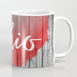 Ohio Map Barn Wall Watercolor Print Coffee Mug