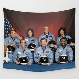 Space Shuttle Challenger Crew, November 1985 Wall Tapestry