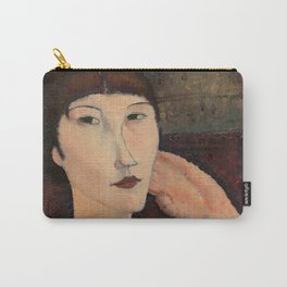 """Amedeo Modigliani """"Adrienne (Woman with Bangs)"""" (1916) Carry-All Pouch"""