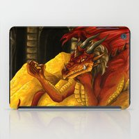 smaug iPad Cases featuring Smaug the Magnificent by RedWryvenArt