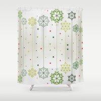 deco Shower Curtains featuring Holidays Deco by Elena Indolfi