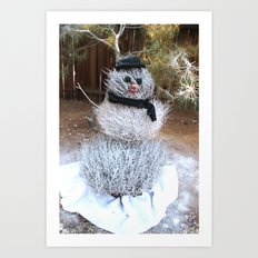 Winter Tumble Man Art Print