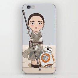 Kokeshis Rey and cute droid iPhone Skin