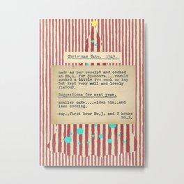 Christmas Card No 3 Metal Print