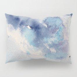 Dramatic sky || watercolor Pillow Sham