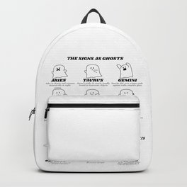 zodiac signs as ghosts Backpack