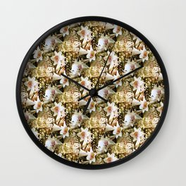 Lily's of Love.... Wall Clock