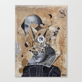 SHAKESPEARE AS AN ABSTRACT CONCEPT Canvas Print