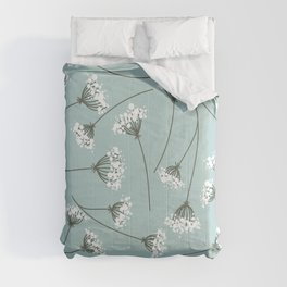Queen Anne's Lace Floral Pattern Comforters