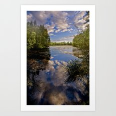 Fenland Reflections Art Print