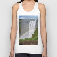 iceland Tank Tops featuring Skogafoss Iceland by seraphina