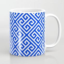 blue white pattern, Greek Key pattern -  Greek fret design Coffee Mug