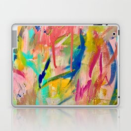 Wild Child: a colorful, vibrant abstract piece in neon and bold colors Laptop & iPad Skin