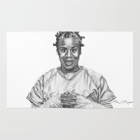 oitnb Area & Throw Rugs featuring Crazy Eyes from OITNB by nilelivingston