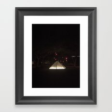 Center and Staged Framed Art Print
