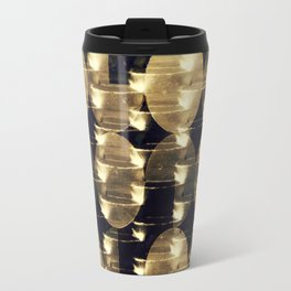 HANGING BY A THREAD/ Gold Travel Mug