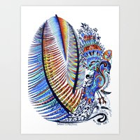 Which Came First? The Indigo or the Egg? Art Print