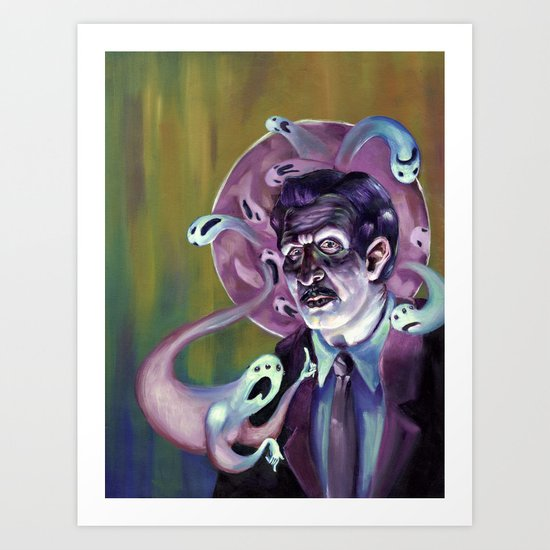 Vincent Price and his Haunted Halo redux Art Print