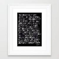 random Framed Art Prints featuring Random by WRDBNR