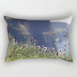 Wild flowers with the Cliffs of Moher in the back Rectangular Pillow