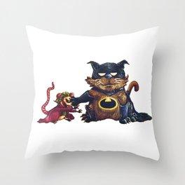 Go Home. I'm Catman Throw Pillow