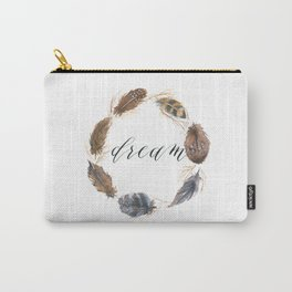 Watercolor feather illustration Carry-All Pouch