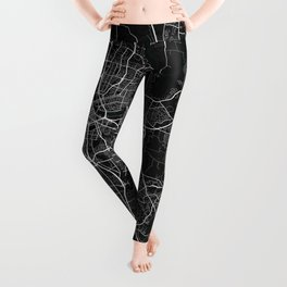 Nashville City Map of the United States - Dark Leggings