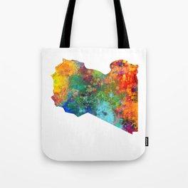 Libya Watercolor Map Tote Bag