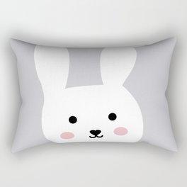Bunny grey pastel poster Rectangular Pillow