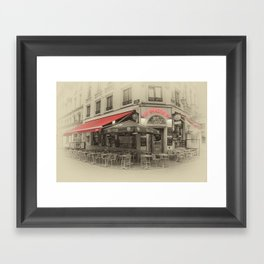 Au Brasseur Framed Art Print