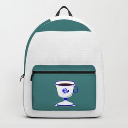 Cup of Coffee in Blue Flow Vintage China Backpack
