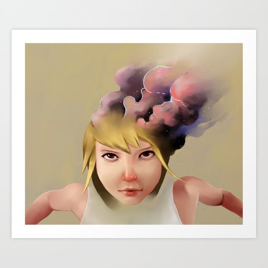 Girl mind Art Print