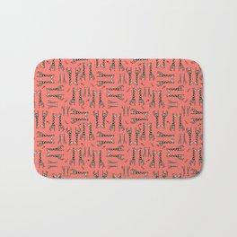 Lovingly, Giraffe - Peach Echo Bath Mat