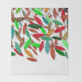 colored leaves Throw Blanket