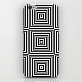 Square Optical Illusion Black And White iPhone Skin