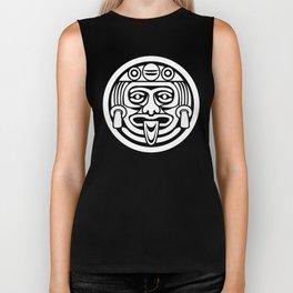 Mayan Face (White) Biker Tank