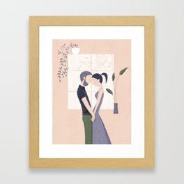 couple in love Framed Art Print