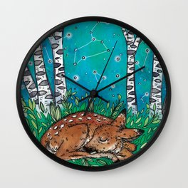 Little Dreamer Fawn Wall Clock