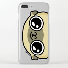Mochi the pug loves you Clear iPhone Case
