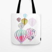 ballon Tote Bags featuring Ballon by Lydia Wienberg