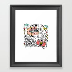Travel Create Explore Framed Art Print