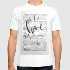 Love in Words MEDIUM Mens Fitted Tee White