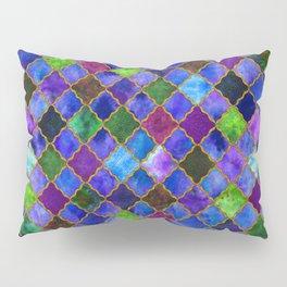 Peacock Arabesque Digital Quilt Pillow Sham