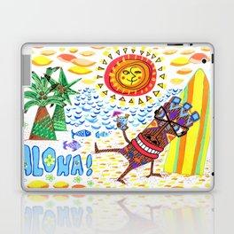 mid century modern Hawaiian tiki toast pattern Laptop & iPad Skin